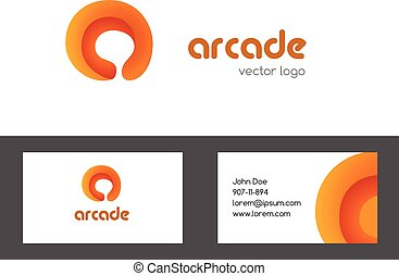 Letter a logotype and bussines card