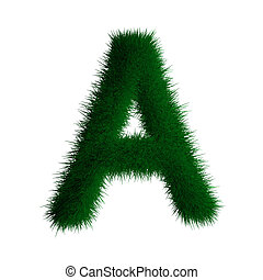 letter a made of grass