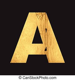 Letter A of the English alphabet