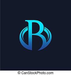 letter a oval circle logo design concept template vector
