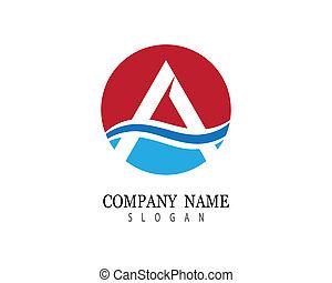Letter a symbol illustration
