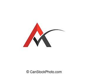 Letter a symbol illustration design
