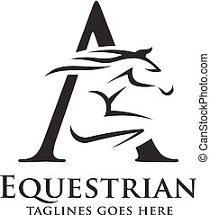 letter A with horse logo