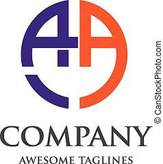 letter AA logo