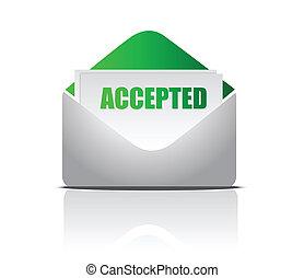 (letter), aceitado, ilustração