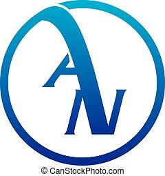 Letter AN Logo Design Template Vector