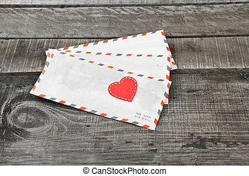 letter and love heart