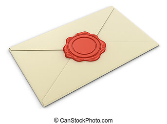 letter and Wax Stamp