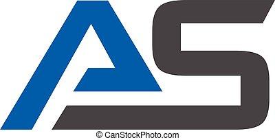Letter AS logo