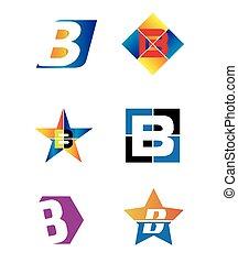 Letter B alphabet logo vector