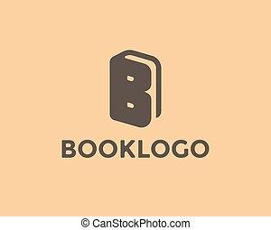Letter B Book Logo