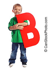 """Letter """"B"""" boy - See all letters in my Portfolio"""