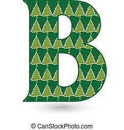 Letter B Christmas tree