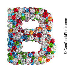 Letter B from scattered gems jewelry