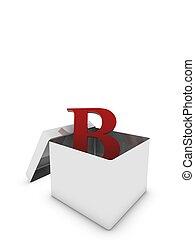 letter b in box