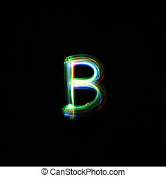 Letter B Light Painted - A unique font created by free hand...