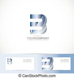 Letter B logo - Vector logo template of alphabet letter B 3d...