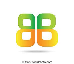 Letter B logo vector symbol