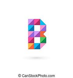 Letter B mosaic logo icon design template elements