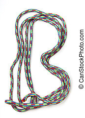 Letter b of cotton rope