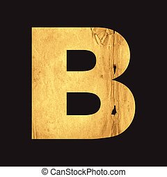 Letter B of the English alphabet