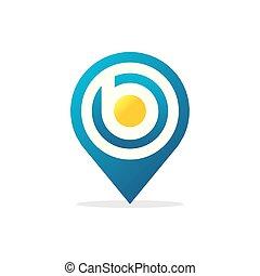 letter B Pin Logo icon vector illustration