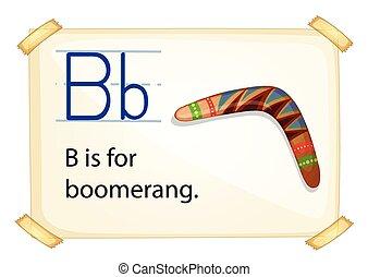 Letter B - Poster of an alphabet B