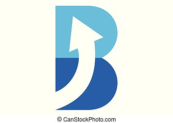 letter b up arrow logo
