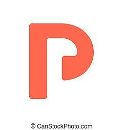 letter bl negative space logo vector
