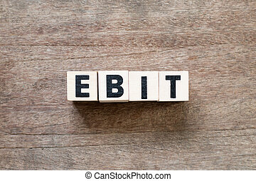 Increase ebit concept  businessman plan (predict) ebit growth