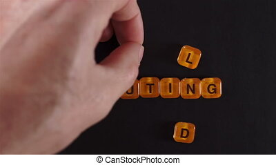 Letter Blocks Spell Cloud Computing - A close up shot of a...