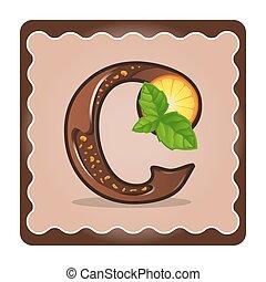Letter c candies