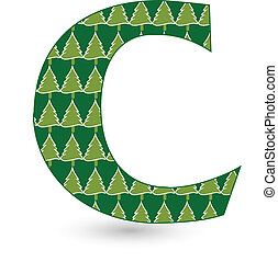 Letter C Christmas tree