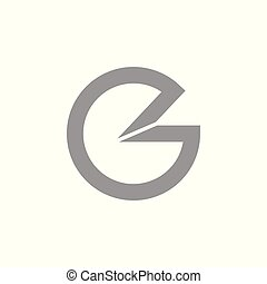 letter c e abstract 3d logo vector