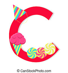 """Letter """"c"""" from candy alphabet"""
