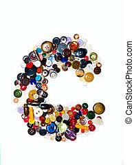 Letter C (Buttons).
