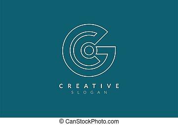 Letter C logo design. Minimalist and modern vector illustration design suitable for business or brand