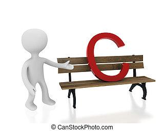 letter c on desk