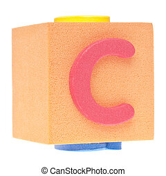 Letter C on Foam Block