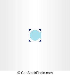 letter c square blue logotype element