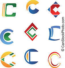 Letter C symbols
