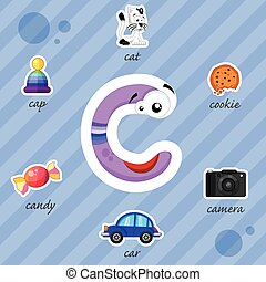 Letter C with words