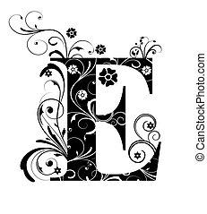 Letter Capital E