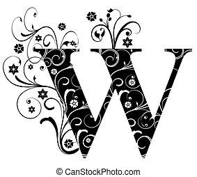 Letter Capital W