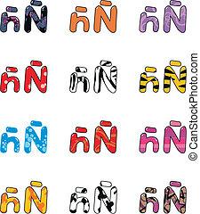 ? letter cartoon  set