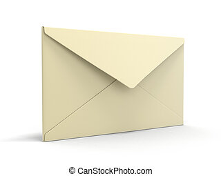 letter. Image with clipping path