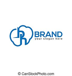 Letter Cloud Logo. Vector Illustration on white background