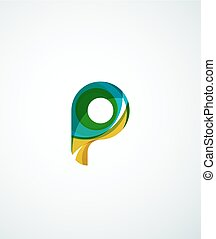 Letter company logo design. Clean modern abstract concept...