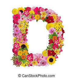 Letter D alphabet with flower ABC concept type as logo ...