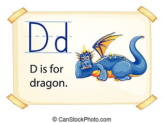 Letter D - Poster of an alphabet D